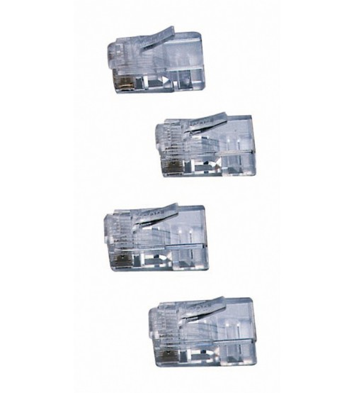 Cat6 RJ45 Connectors for use with solid cable