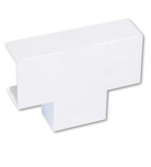 Cabledec Plus - Mini Trunking Flat Equal Tee - 38 x 38