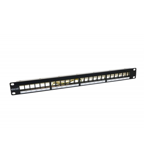 Excel 24-port 1U Unloaded Keystone Frame