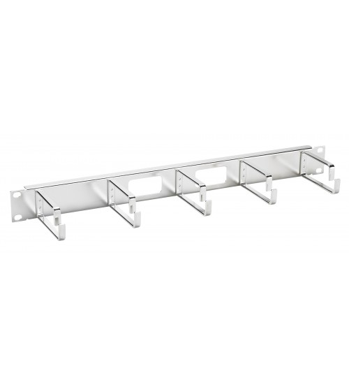 Excel 1U Cable Management Bar, 5 way, Chrome