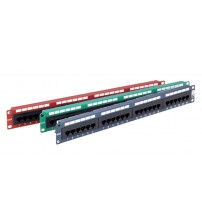Excel Cat 5e Unscreened RJ45 Patch Panel 24 Port 1U - Coloured
