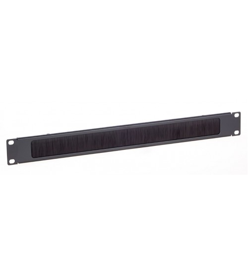 Excel 1U Brush Strip Letterbox Panel - Black