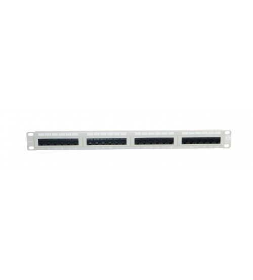 Excel Cat5e (UTP) Patch Panel 1U 24 Port - Beige