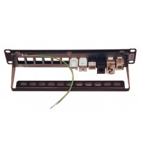 "Excel MicroLan Keystone 10"" Patch Panel - Empty"