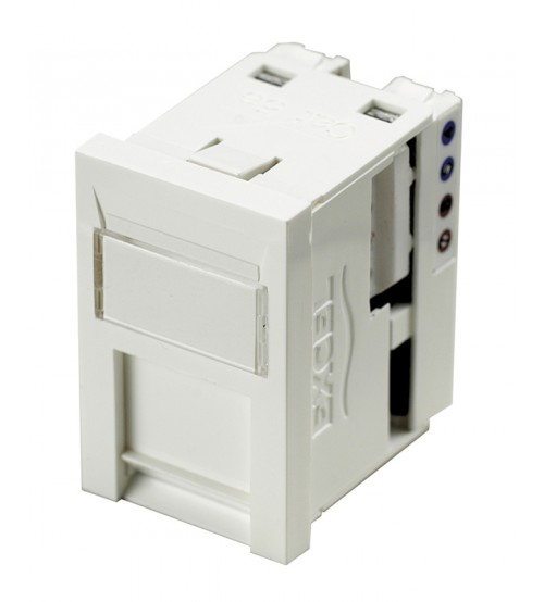 Excel Cat 5e Unscreened RJ45 Module - 6c