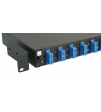 Excel 24 Way Singlemode Fibre Optic Panel - 12 SC Duplex (24 Fibre)