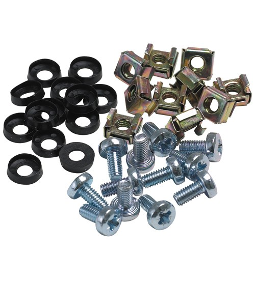 "Excel - 19"" Rack Cage Nuts and Bolts - 50 Pack"
