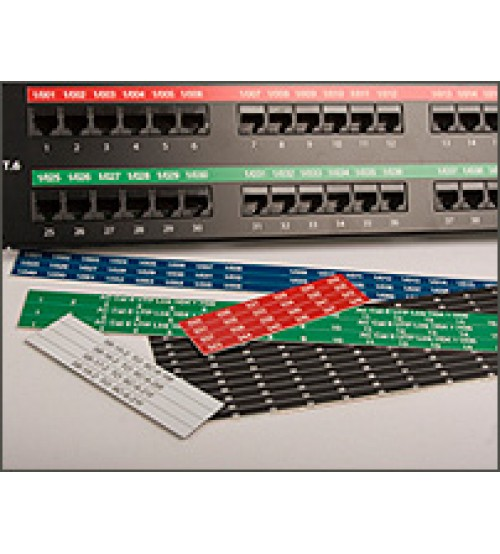 Sharp Mark Patch Panel Labels for Excel Patch Panels Engraved
