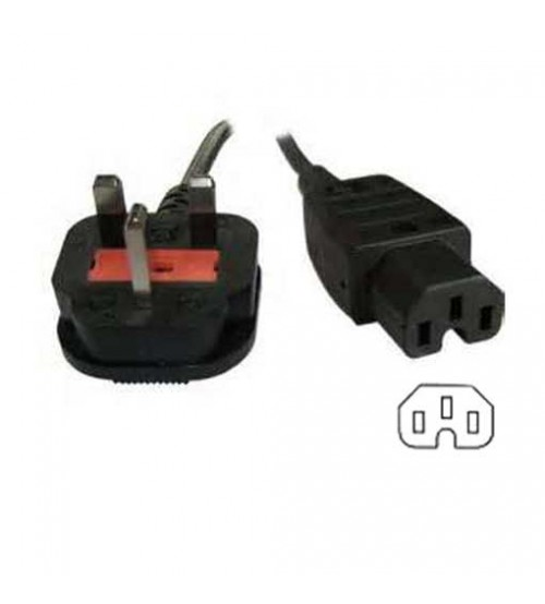 13Amp UK Plug To IEC C15 Hot Condition Socket - 2m