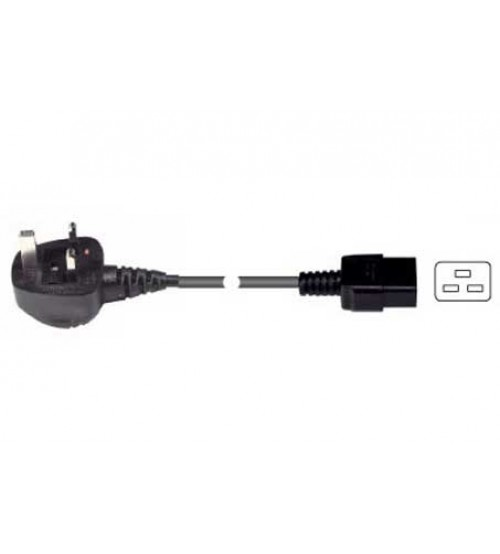 13A UK Mains Plug to C19 Socket - 2.5m to 5m