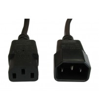 LEC Mains Extension Cable - C13 To C14 - 0.5m to 10m