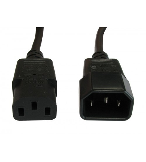 LEC Mains Extension Cable - C13 To C14 - 0.5m
