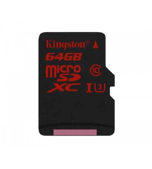 Kingston (64GB) MicroSDHC US-1 Speed Class 3 (SD Adapter Not Included)