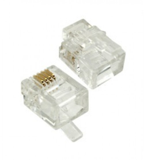 MiniLink/COB RJ12 6P4C Plug for Stranded Wire Only