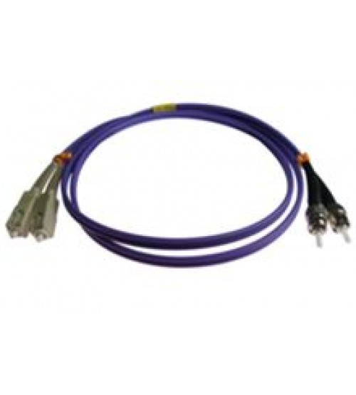 SC - ST OM3 Duplex Violet 50/125 Fibre Optic Patch Cable