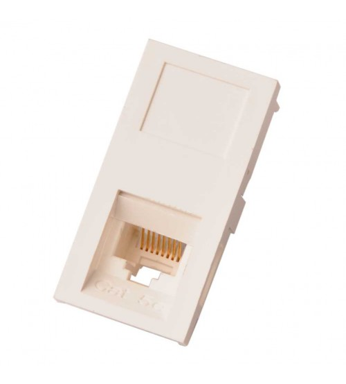 Nenco Cat5E Utp Low Profile Shuttered Module 25X50mm White