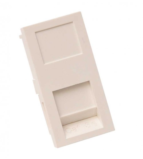 Nenco Unloaded Flat Shuttered Module 25X50mm White