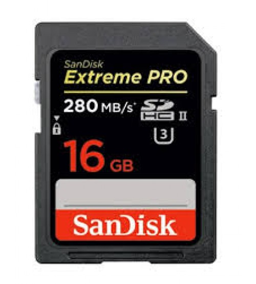 SanDisk SDSDXPB-016G-G46 16GB Extreme Pro 250MB/s UHS-II SDHC Card