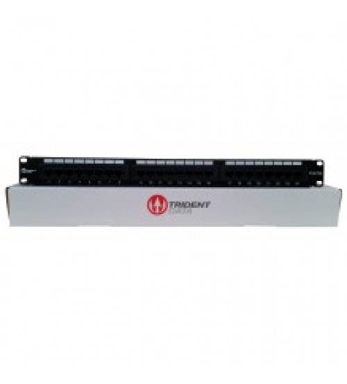 Trident CAT5e UTP 24 Port Rear Punch Patch Panel 1U