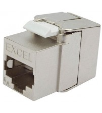 Excel Category 6A Low Profile Screened Keystone Jack - Toolless