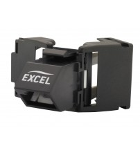 Excel CAT6 Angled UTP Toolless Keystone Jack 180 Degree