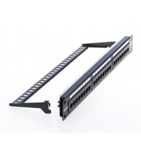 Excel Cat 6 UTP Patch Panel - RJ45 24 Port - 1U - Black