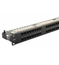 Excel Cat 5e Right Angle Unscreened UTP Patch Panel 48 Port 1U