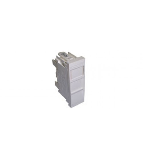Excel CAT5e Unscreened (UTP) Module - 16.65 x 50mm - RJ45 - White