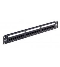 Excel Plus - Cat 5e Unscreened RJ45 24 Port Patch Panel 1U