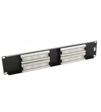 Excel Cat5e 2u 32 Port UTP Patch Panel Black