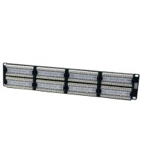 Excel Cat5e 2u 48 Port UTP Patch Panel Black