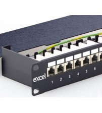 Excel Cat 5e Screened Right Angle RJ45 Patch Panels