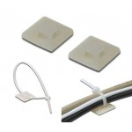 19x19mm Self Adhesive Cable Tie Mount - 100 Peices