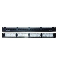 Matrix 24 Port Cat5e 110/LSA Patch Panel - 1U Black