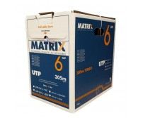 Matrix Cat6 LSZH Solid Copper Cable- Unscreened (U/UTP) 305m Box