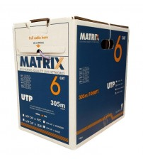 Matrix Cat6 PVC UTP Solid 305m Box