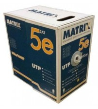 Matrix Cat5e Cable PVC Solid UTP 305m Box (1000ft)