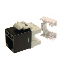 Mini6 CAT6 UTP Punch Down Keystone Black Component Level Jack