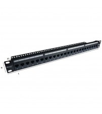 Mini5 24 Port 1U CAT5e UTP Black Coupler Panel