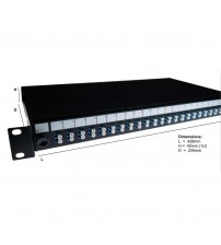 Mini5 OM3/4 OS1/2 Sliding Fibre Optic Patch Panel