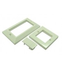 Nexans Double Gang Flat Wallplate