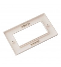 Nenco Double Gang Faceplate 100X50mm Flat White