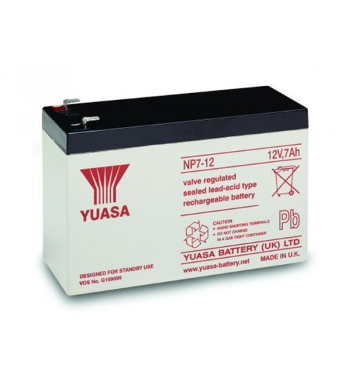 np7 12 yuasa 12v 7ah lead acid battery. Black Bedroom Furniture Sets. Home Design Ideas