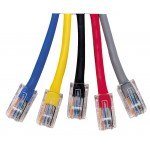 Cat5e Patch Lead No Boots 1m
