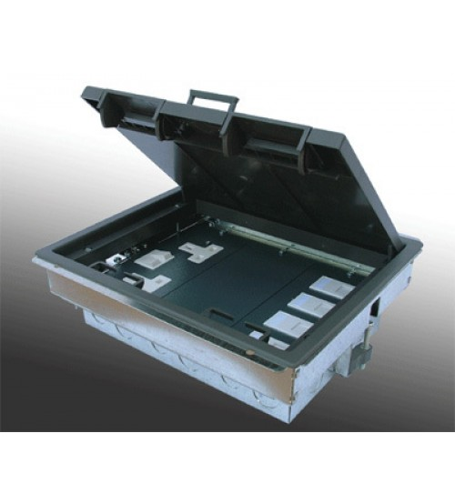 Power Data 4 Compartment Floor Box