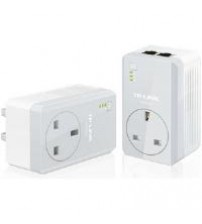 TP-LINK AV500 TL-PA4020P 500Mbps Powerline Adaptor with AC Pass Through Starter Kit (Twin Pack)