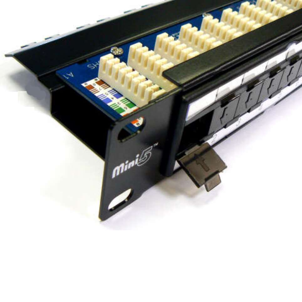 Mini5 Punch Down Utp Cat5e Patch Panel With Cable Management